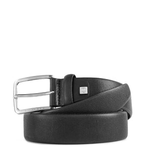 Men's belt in printed leather