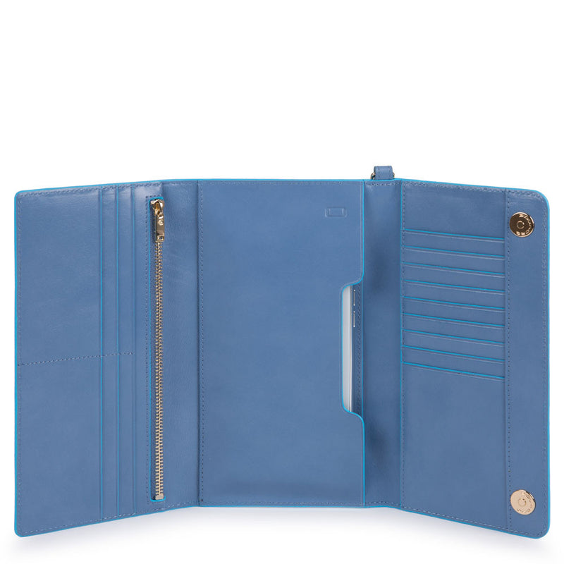 Blue Square Smartphone wristlet with credit card facility