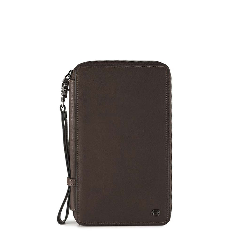 Travel document holder with credit card slots, pen Black Square