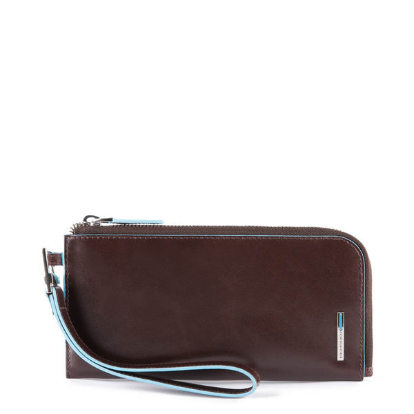Slim smartphone wristlet wallet with credit card Blue Square