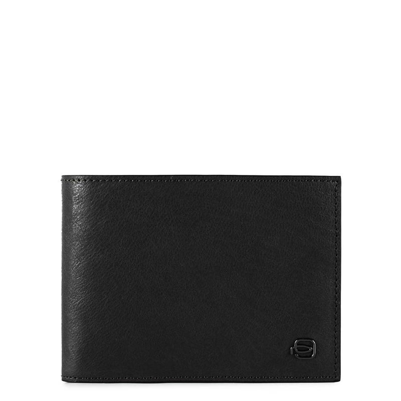 Men's wallet with twelve credit card slots Black Square