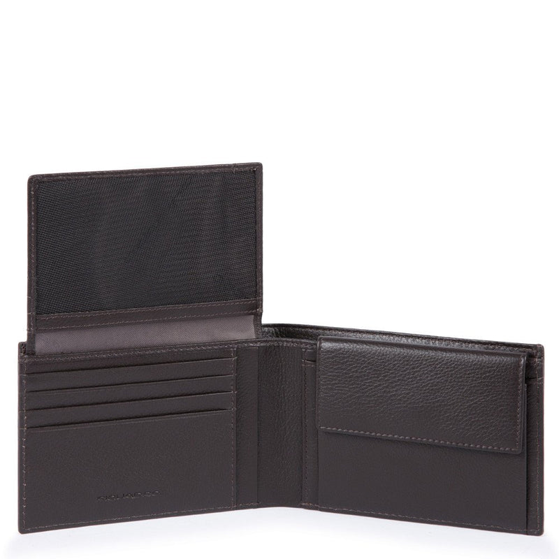 Men's wallet with flip up ID window, coin pocket and credit card slots