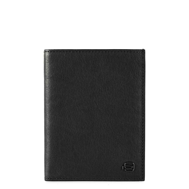 Vertical men's wallet with banknote, credit card Black Square