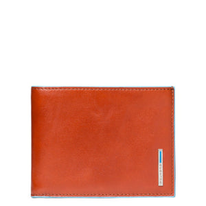 Men's wallet with coin pocket Blue Square