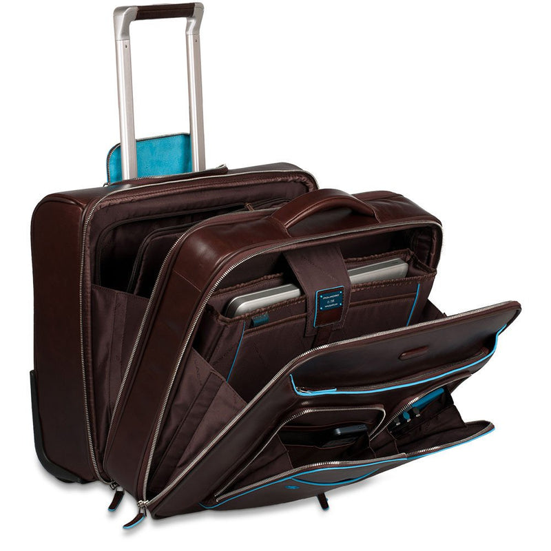 Business trolley with removable notebook/iPad®/ Blue Square