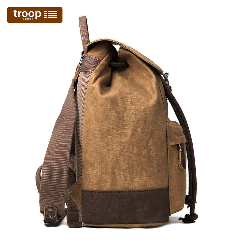 HERITAGE CANVAS LEATHER LAPTOP BACKPACK