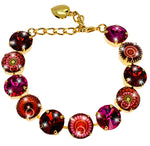 CABOCHON BRACELET - Full Front View - Fully Adjustable Sizing.
