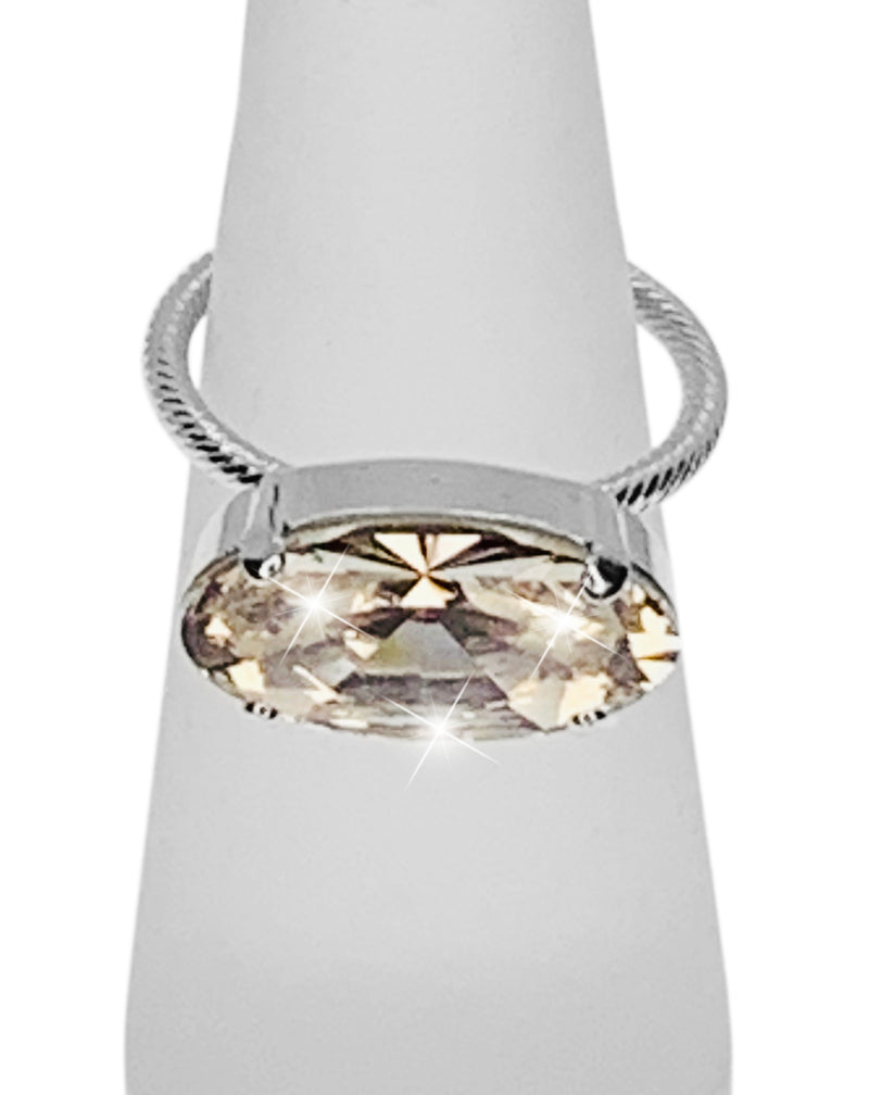 MODA RING - Front View - Fully Adjustable Sizing