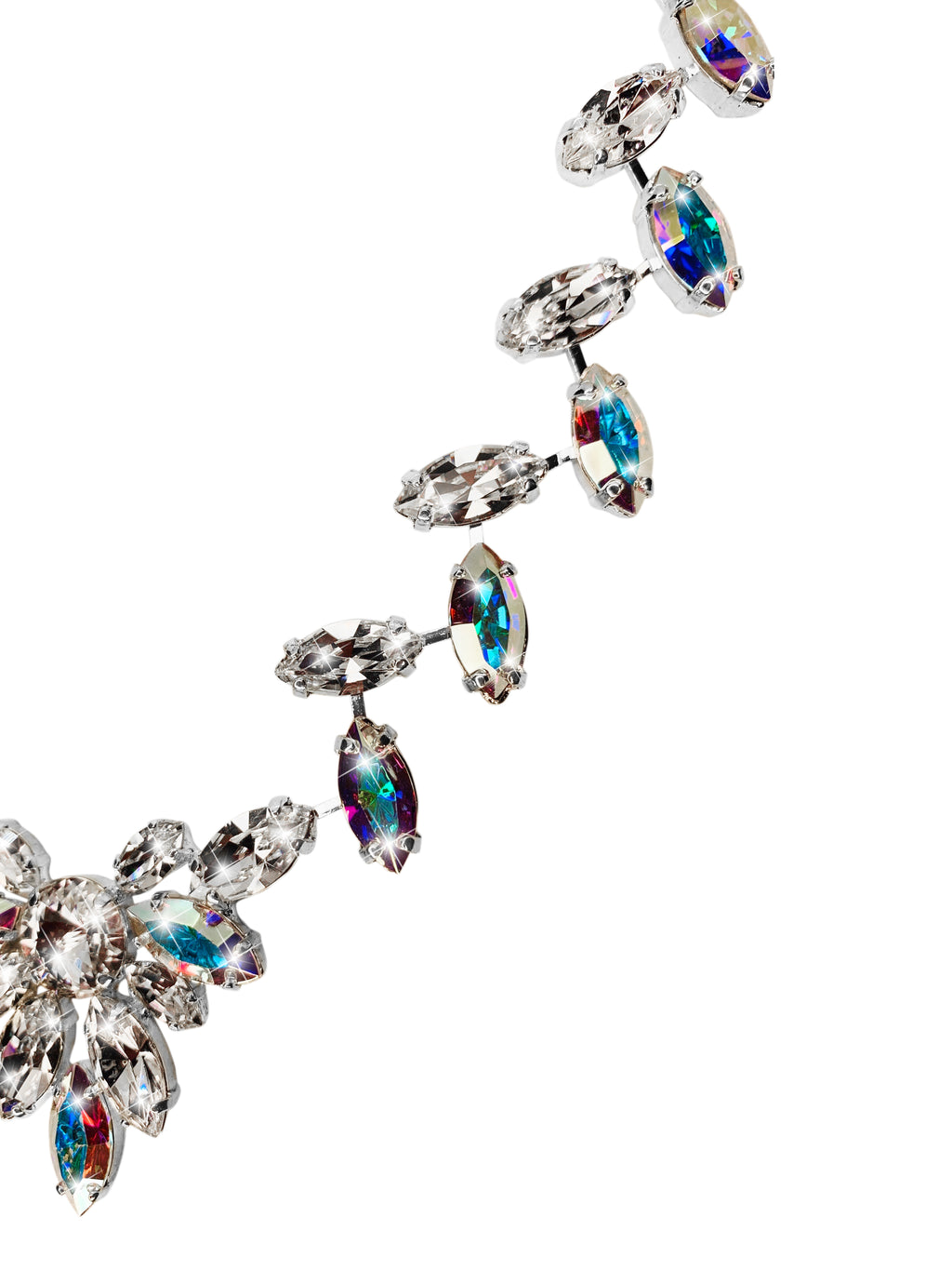 BIRD OF PARADISE NECKLACE SILVER CRYSTAL/CRYSTAL AB