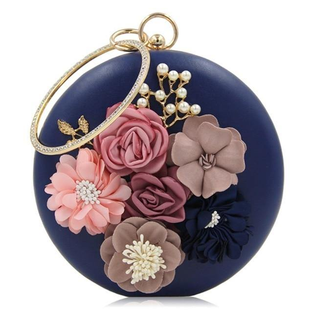 Floral Embroidery Evening Bag - Swag Vikings
