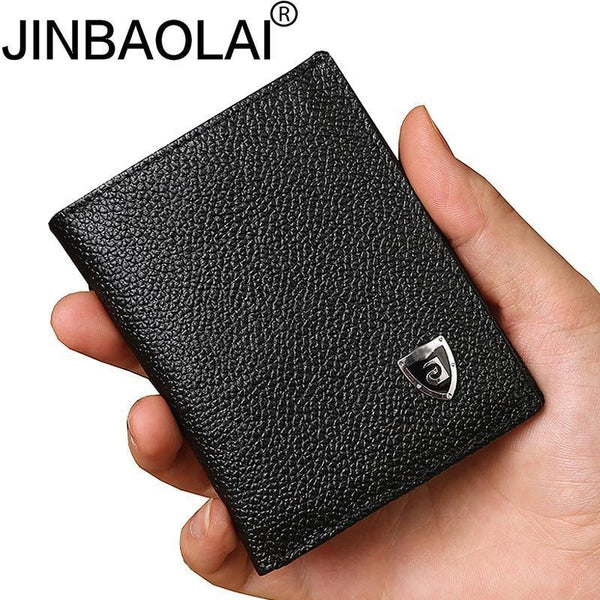Small Slim Mini Genuine Leather Men Wallet Male Purse Thin Walet Cuzdan Vallet Money Bag For Card Holder Short Kashelek Partmone - Swag Vikings