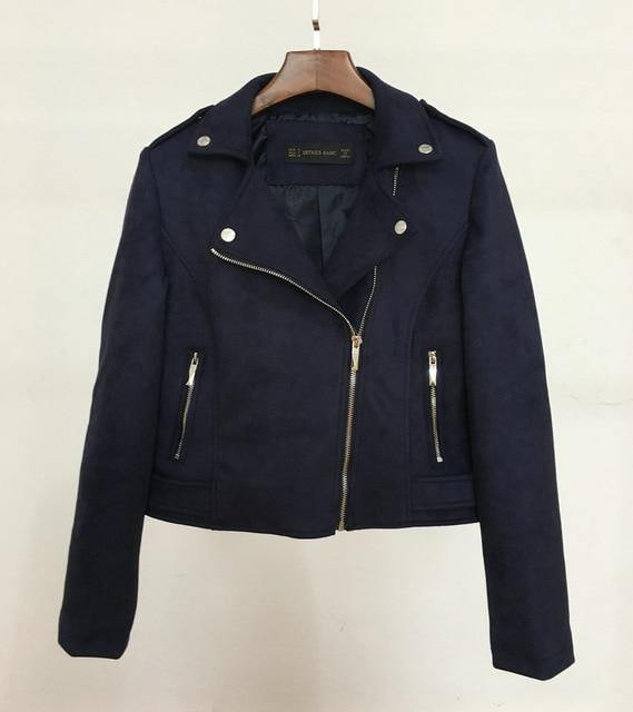 Preppy Style Faux Soft Suede Leather Jacket - Swag Vikings
