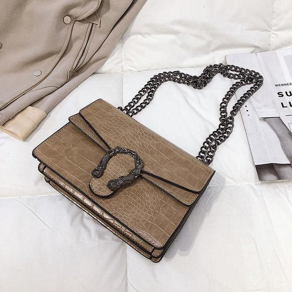 Classy Shoulder Bag with Chain Strap - Swag Vikings