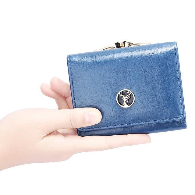 Short Women's Wallet for Woman Small Wallets Leather Coin Purse Ladies Fashion Hasp Female Wallet Mini for Student Card Holders - Swag Vikings