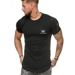 Casual O-Neck Zipper T-Shirt - Swag Vikings