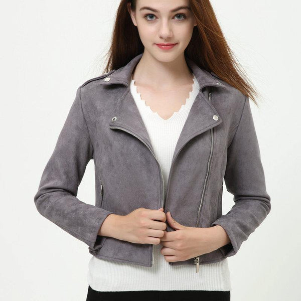 Soft Suede Leather Jacket - Swag Vikings