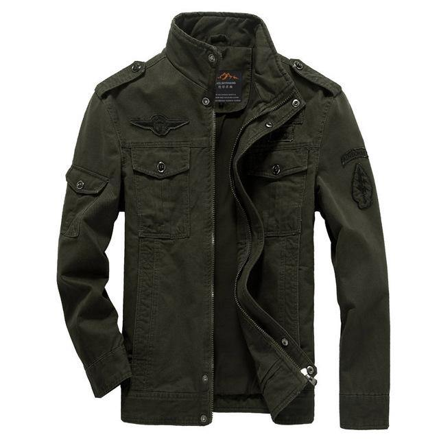 Plus Size Casual Army Jacket - Swag Vikings