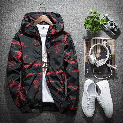Casual Waterproof Camouflage Hoodie Jacket - Swag Vikings