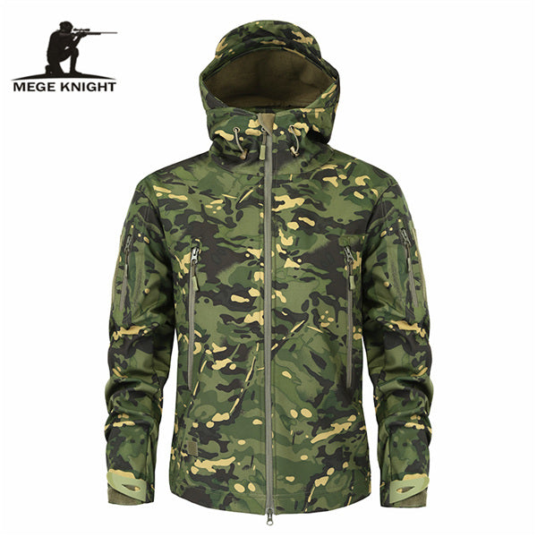 Men's Military Camouflage Fleece Jacket - Swag Vikings