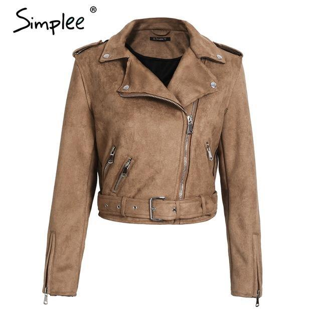 Cool Faux Leather Jacket with Zipper - Swag Vikings