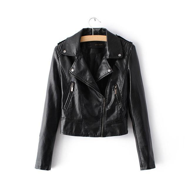 Casual Motorcycle Faux Soft Leather Jacket - Swag Vikings