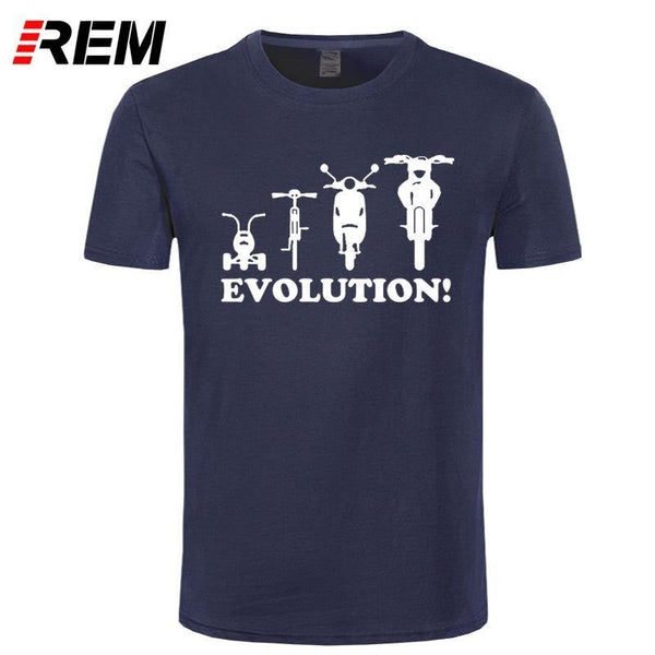 Motorbike Evolution T-Shirt - Swag Vikings
