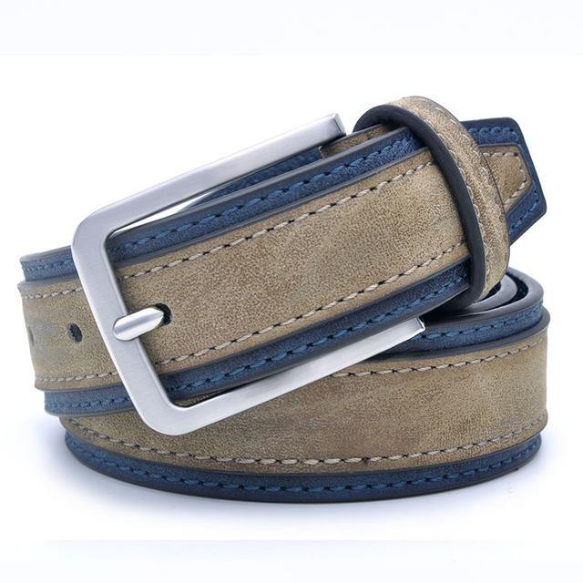 Casual Patchwork Leather Belt - Swag Vikings