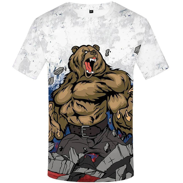 3D Cartoon Print T-Shirt - Swag Vikings