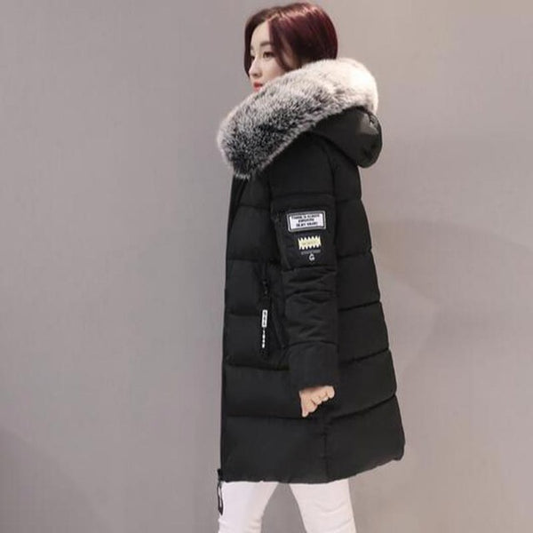 Plus Size Coat with Fur Hoodie - Swag Vikings