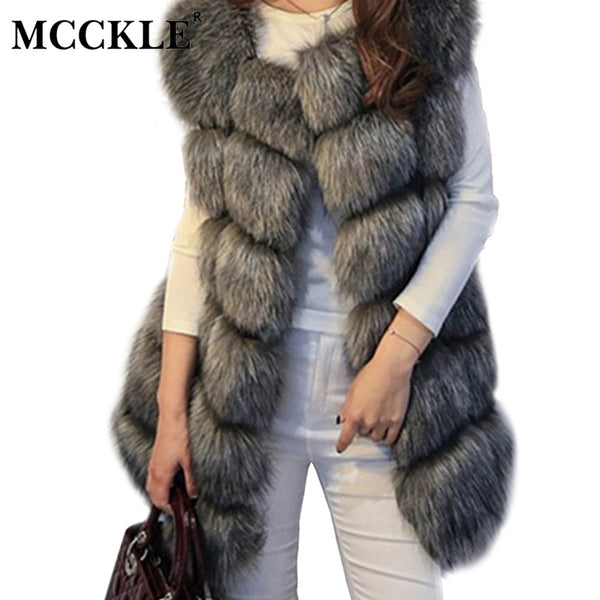 Luxury Faux Fur Vest Coat - Swag Vikings