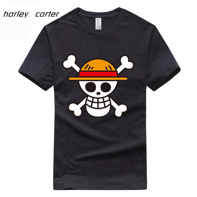 Japanese Anime One Piece Print T-Shirt - Swag Vikings