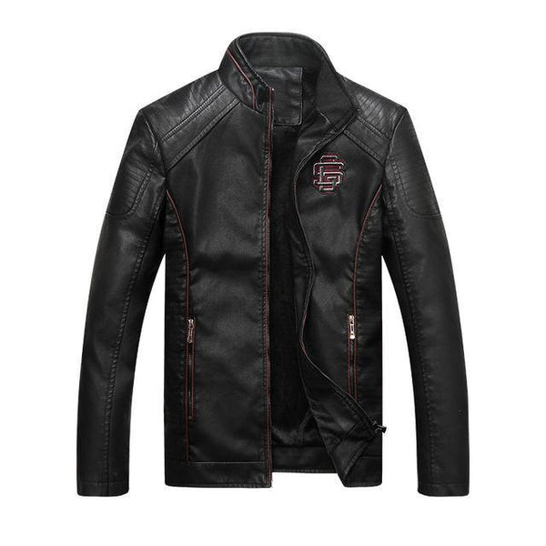 Classic Motorcycle Leather Jacket - Swag Vikings