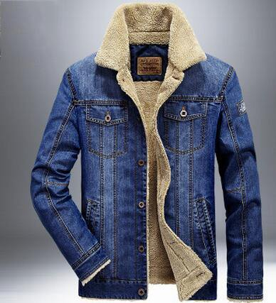 Thick and Warm Denim Jacket - Swag Vikings