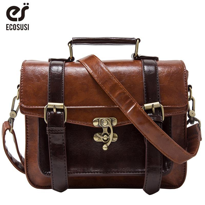 Classic Leather Messenger Bag - Swag Vikings