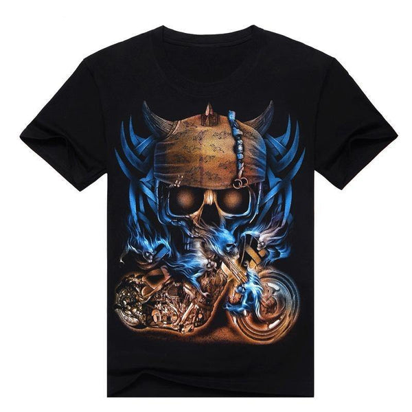 3D Sickle Skulls T-Shirt - Swag Vikings