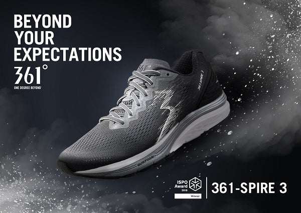 ISPO NAMES 361-SPIRE 3 WINNER OF THE RUNNING SHOE CATEGORY