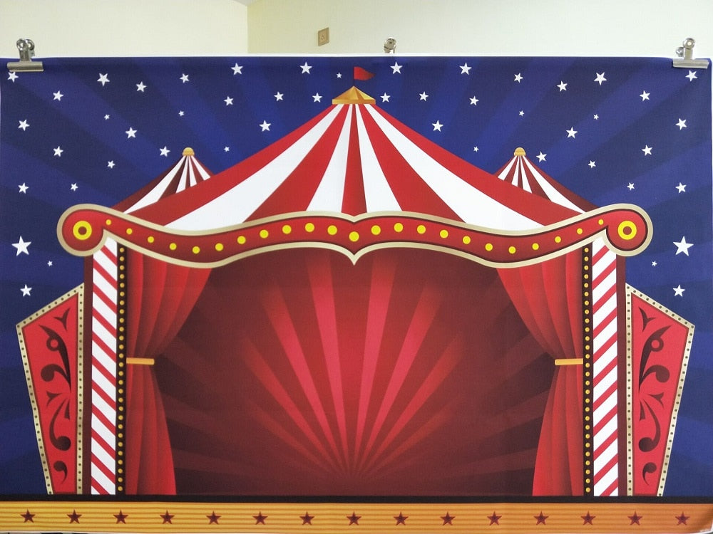 Circus Tent Illustration. FREE SHIPPING!