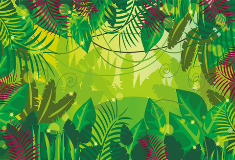 Illustrated Jungle Trees and Vines. FREE SHIPPING!