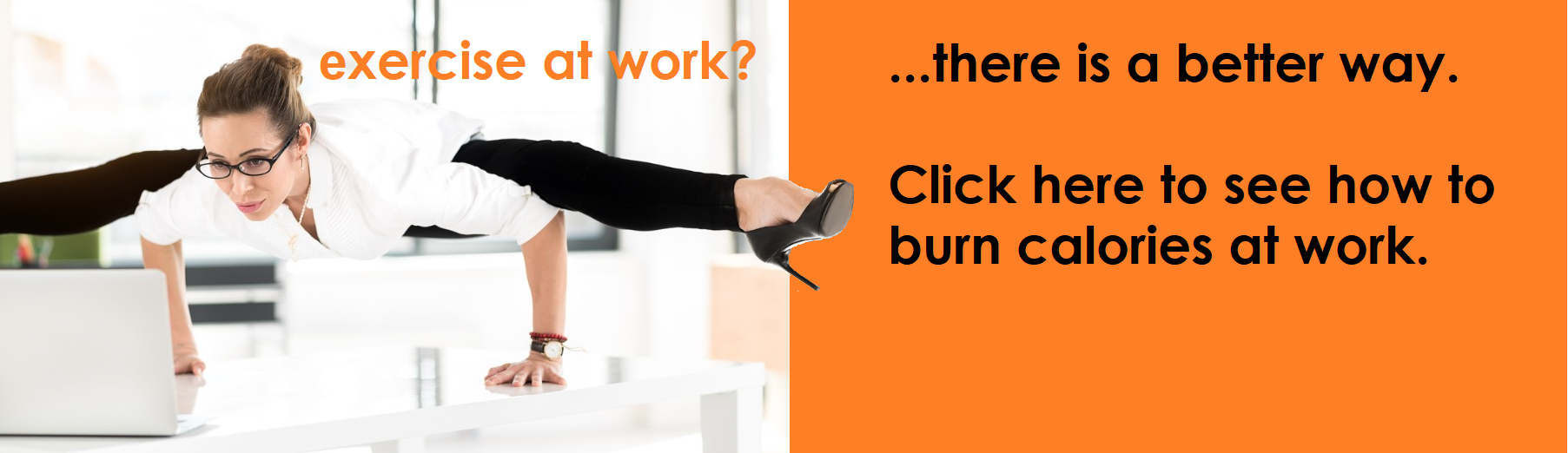 exercise at work burn calories working