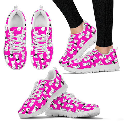 Women's Cat Pink Sneakers