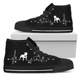Heartbeat Dog Pitbull Men's High Top