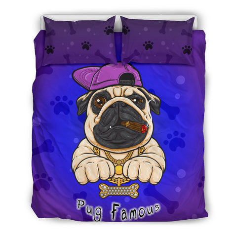 Pug Famous Bedding Set