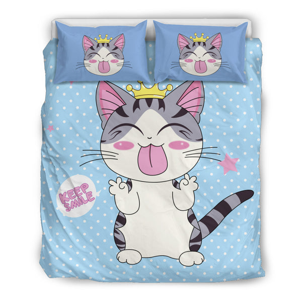Cat Smile Bedding Set