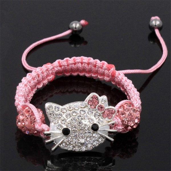 1pcs Shambhala child cat head bracelet - Kitty Puppies