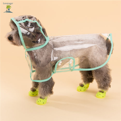 Pet Transparent Hooded Raincoat for Small Dogs - Kitty Puppies