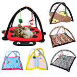 Cat Play Foldable Mat Tent - Kitty Puppies
