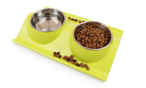 Pet Bowl Water and Food Storage Feeder Basin - Kitty Puppies