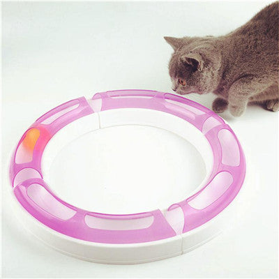 Super Roller Circuit Cat Track Ball Toy - Kitty Puppies