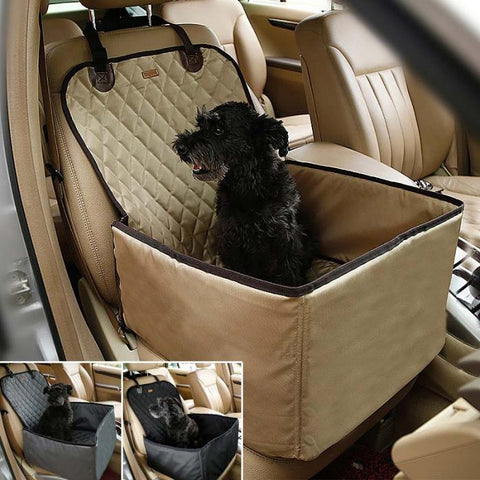 3-in-1 Deluxe Pet Single-seat Car Seat Cover (Bonus Seat Belt) - Kitty Puppies