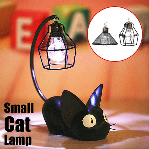 Small Black Cat Night Lamp - Kitty Puppies